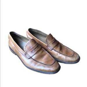 Cole Haan men's tan leather loafers size 10.5